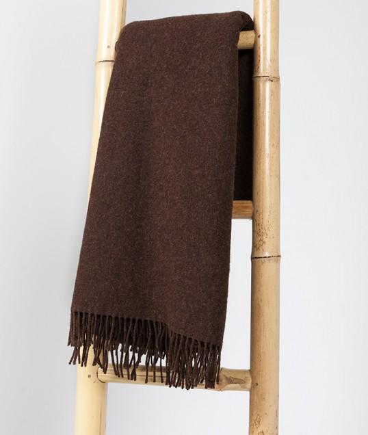 manta lana merina negra
